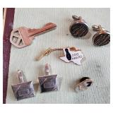 Cufflinks and pins Texas bowling horse racing etc