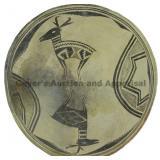 Pronghorn Antelope Mimbres Figural Bowl