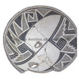 Bisected Half-Banded Center Mimbres Classic Bowl