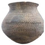 Large Corrugated Indented Jar