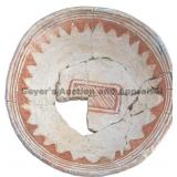 Triangle Pendant Rim Banded Mimbres Classic Bowl