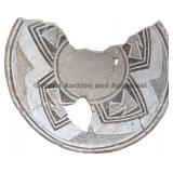 Nested Fan Element Geometric Mimbres Bowl