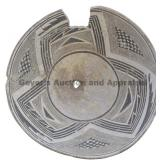 Three Blade and Triangle Geometric Mimbres Bowl