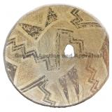 Alternating Halved Geometric Mimbres Bowl