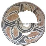 Five Greek Keyed Stepped Sections Mimbres Bowl