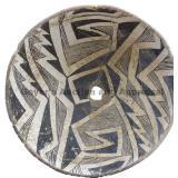 Opposing Design Full Bowl Geometric Mimbres Bowl