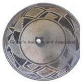 Fine Thin Line Hachure Geometric Band Mimbres Bowl