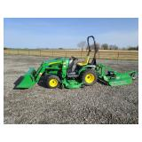 "2007 John Deere 2320, 360 hrs, loader, 62"" mower deck"