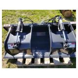 "Stout 72"" skid steer grapple bucket"
