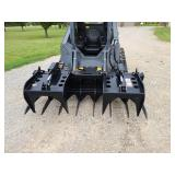 "Quick Attach 84"" skid steer log grapple"