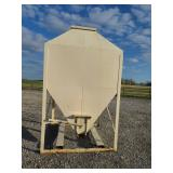 3 ton feed bin with slide gate