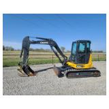 2018 John Deere 50G mini excavator, 583 hr, 1 owner, hyd. thumb