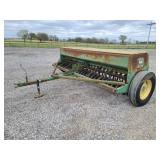 "John Deere 8300 grain drill. 23 hole. 7"" spacing. Double disc openers"