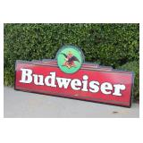 Large Budweiser Beer Metal Advertisement Sign