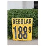 Large Metal Fuel Price Sign