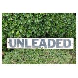 Metal Unleaded Gasoline Sign