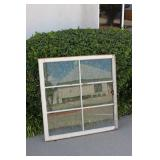 Old 6 Payne Wooden Window - All Glass Intact
