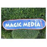 Metal Magic Media Advertisement Sign