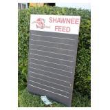 Shawnee Feed Blackboard Sign
