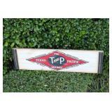 Wooden Texas Pacific Railway Wooden Sign