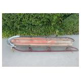 Old Vintage Sky Plane Wooden Snow Sled - Great Loo