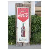 """Awesome Large Coca-Cola """"Refresh"""" Metal Sign"""