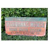 Vintage Fairbanks-Morse Home Water System Sign