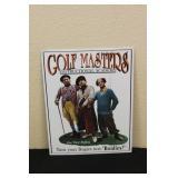 Metal 3 Stooges Golf Masters Sign