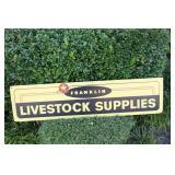 Franklin Livestock Supplies Ad. Masonite Sign