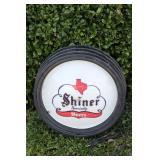 Shiner Bock Beer Advertisement Clock