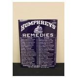 Contemporary Humphreys Remedies Metal Sign