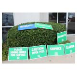 Contemporary Quaker State Oil Signs