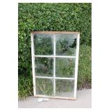 Antique Metal Framed Six Pane Window #1