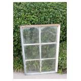 Antique Metal Framed Six Pane Window #2