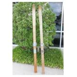 Antique Maple Wood Snow Skis