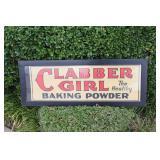 Original Clabber Girl Baking Powder Cardboard Sign
