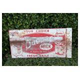 Antique Banner Milk Double Sided Metal Flange Sign