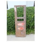 Old Premier Gas Fuel Pump Door Face