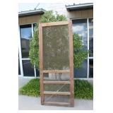 Old Wood Screen Door