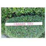 Metal Canada Dry Door Push Bar Advertisement