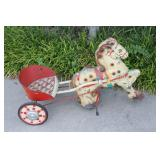 Vintage Mobo Pony Express Horse Pedal Toy