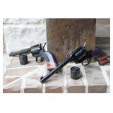 PAIR of Heritage Rough Rider Pistols-22LR/22 Mag
