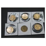 6 U.S. Commemorative Presidentail Dollars
