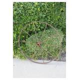 Antique Iron Farm Implement Wheel #1