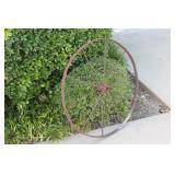Antique Iron Farm Implement Wheel #2