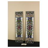 Pair of Stained Glass Style Pair of Windows