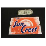 Small Porcelain Sun Crest Advertisement