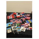 Lot f Mixed Small World Flags & Patches