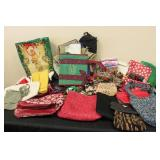 Large Lot of Purses, Bags & Holiday Wrapping Paper