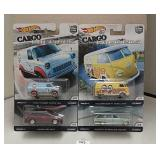 Lot of 4 2017 Hot Wheels Cargo Carriers